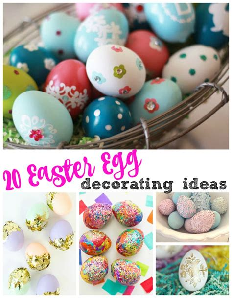 easter egg ideas easter egg decorating ideas