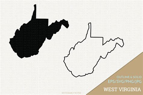 West Virginia State Outline Vector by West Virginia Vector State Clipart Wv Clip West Virginia Svg State Png Design 13709