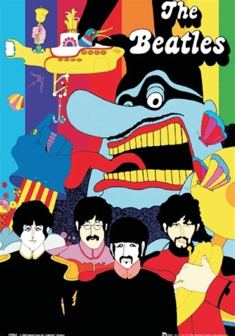 Home Decor Flipkart by The Beatles Yellow Submarine Music 3d Poster Music