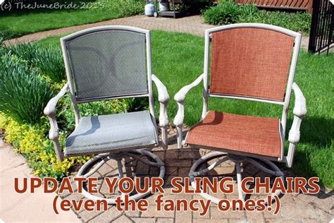 How to ?Reupholster? Patio Sling Chairs   For the Home