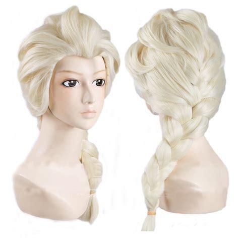 Elsa Frozen Wig Kepang Light Pirang Princess Frozen Elsa Wig Light Up Car Interior Design