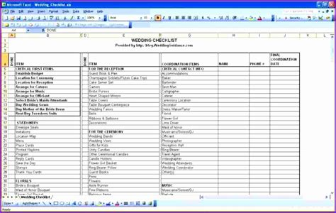 wedding guest excel spreadsheet 9 excel guest list template exceltemplates exceltemplates