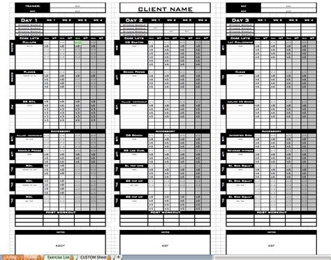 excel exercise templates delli beriberi co