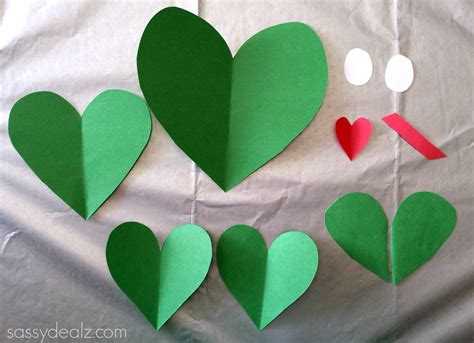 Craft Paper Hearts - paper frog craft for crafty morning