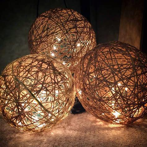diy light balls muchocrafts twine spheres diy
