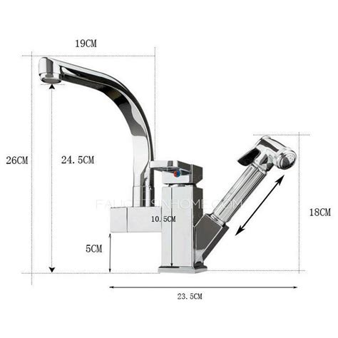 Kitchen Faucet End High End Rotatable Kitchen Faucet With Pullout Spray Gun