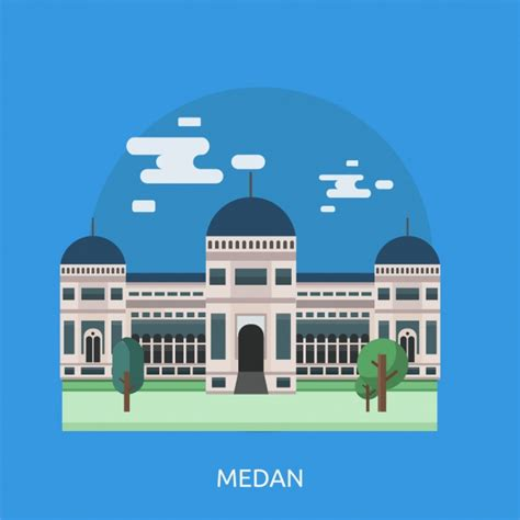 medan background design vector
