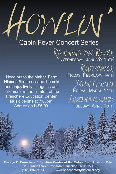 Cabin Fever Series by Howlin Cabin Fever Concert Series Running The River