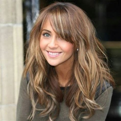 brunette hairstyles with highlights and bangs 55 charming brown hair with blonde highlights suggestions