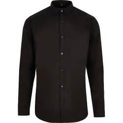 black slim fit long sleeve smart shirt long sleeve