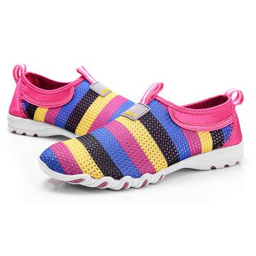 Slip On Bohemian Style Sport Shoes shoes mesh breathable soft casual slip on low top fashion sport shoes us 24 98