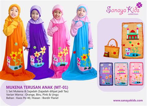 2792 Dress Terusan Polkadot 1 sanaya collection mukena anak mukena terusan