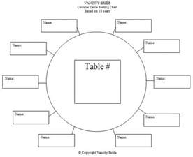 wedding table template free individual table seating charts free wedding