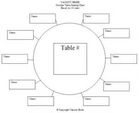 Wedding table seating chart template 10