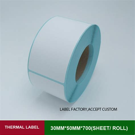 Label Sticker Barcode Thermal 50x25 1 1 Line 1000 Pcs thermal printer labels stickers 30 50mm 700 sheets self adhesive rolls paper for price tags with