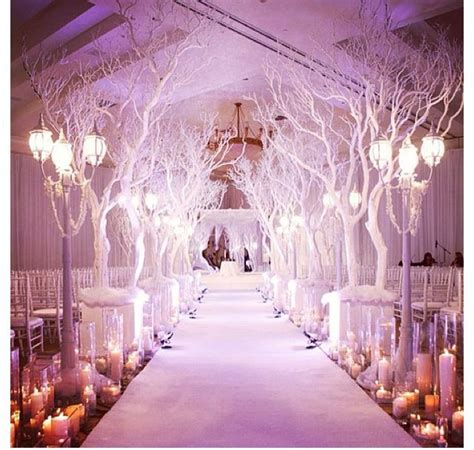 Wedding Aisle Trees by Candles Lining The Aisle Not The Tree Branches Wedding