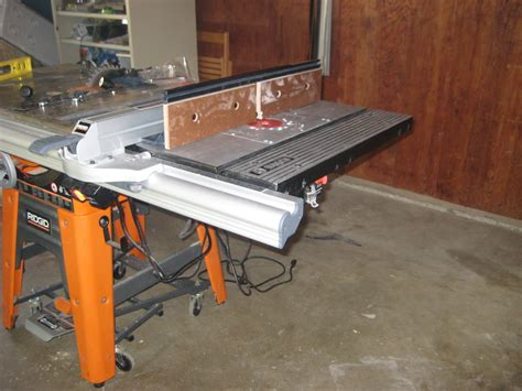 Ridgid Table Saw Extension by Rigid Ts3650 Router Extension Wing By Fireguy