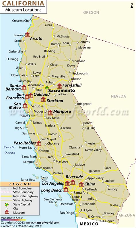 maps california cities map of california free large images