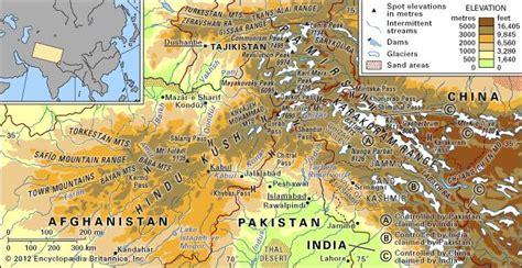 hindu kush map hindu kush mountains asia britannica