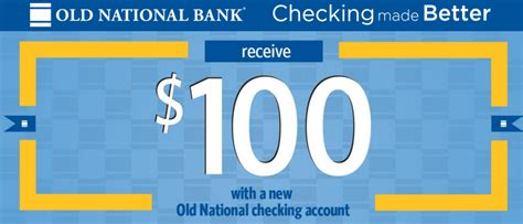 Old National Bank Gift Card - il in ky mi oh only old national bank 100 checking bonus doctor of credit