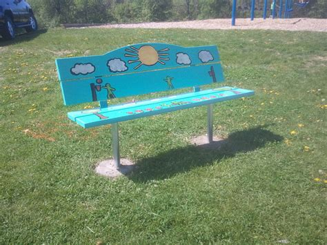 buddy bench for sale hugger elementary school christian s buddy