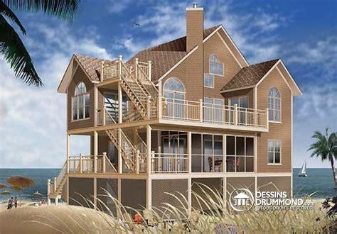 beach style home plans d 233 tail du plan de maison unifamiliale w4943a