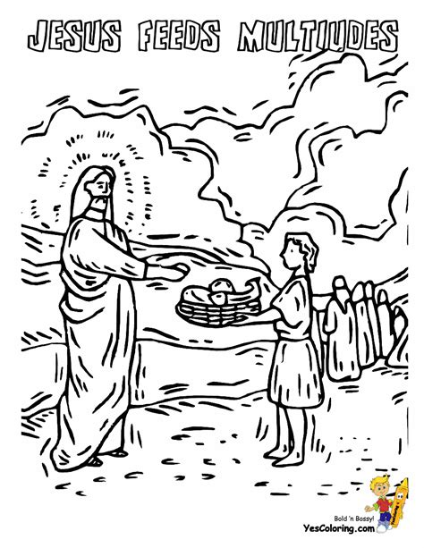 bible story coloring pages jesus feeds 5000 rock of ages bible coloring pages ree jesus coloring