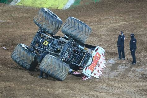 monster truck show accident monster trucks crashes www pixshark com images