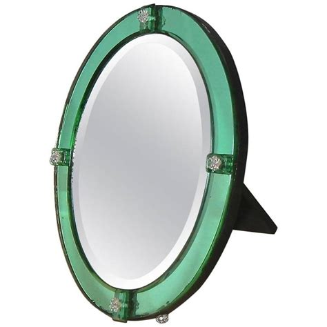 emerald green table l deco emerald green table mirror for sale at 1stdibs