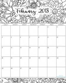 2018 coloring calendar books 2018 monthly coloring calendars printables titus