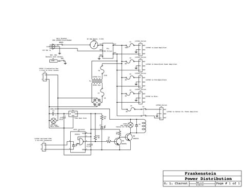 power distribution block diagram frankenstein a vacuum home theater system