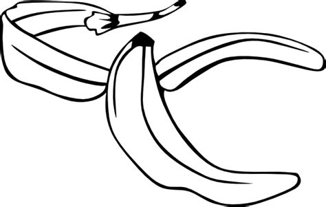 Banana Peel Outline banana peel outline clip at clker vector clip royalty free domain