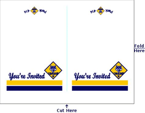 bsa blue card word template blue and gold invitations 3 blue and gold cub scout