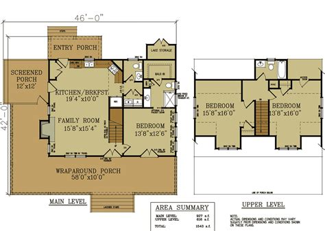 Cottages Floor Plans 2 Bedroom Cabin With Loft Plan Studio Design Gallery Best Design