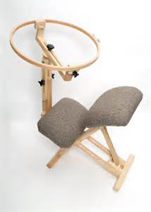 chair with quilting hoop