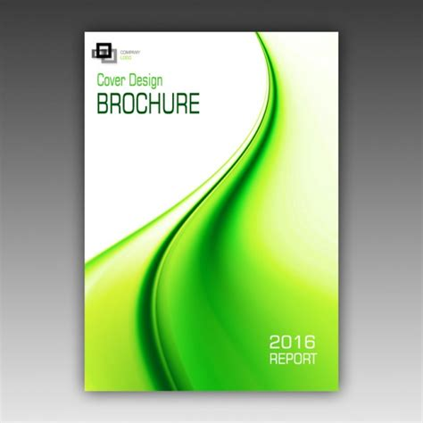 green brochure template psd file free download