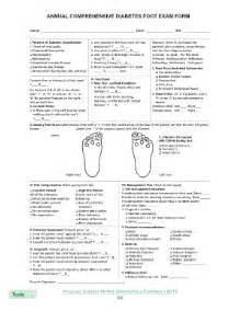 diabetes foot exam form fill online printable fillable