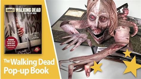 libro songs of a dead the walking dead pop up book review and close up youtube
