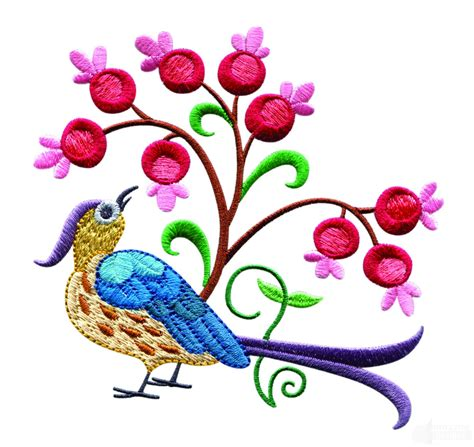 design embroidery online a birds paradise jf304 embroidery design