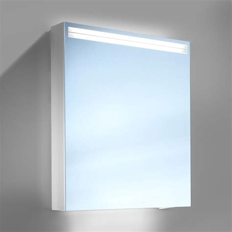 schneider arangaline 500mm 1 door mirror cabinet with led