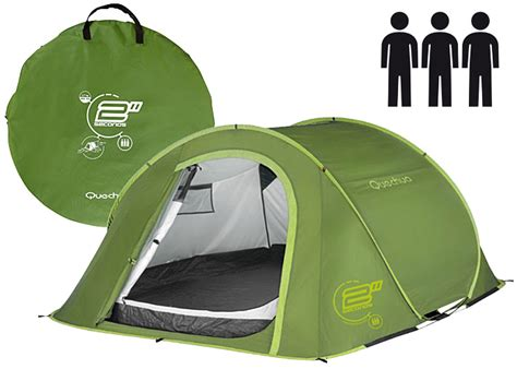 tenda quechua 2 seconds quechua waterproof pop up cing tent 2 seconds iii 3