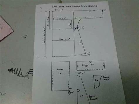Pattern Baju Kurung Pesak Gantung | baju kurung pesak gantung pattern drafting pinterest