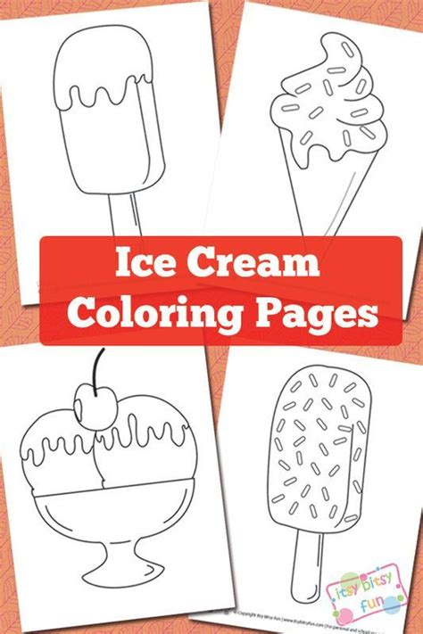 summer ice cream coloring pages ice cream coloring pages sommar