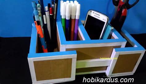 membuat tempat jam tangan dari kardus cara membuat tempat pensil dari kardus bekas bisa