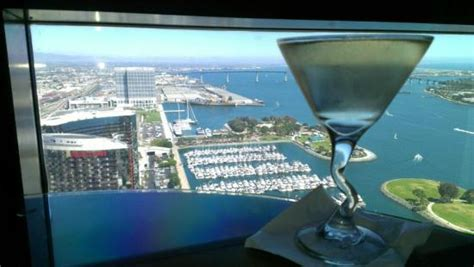 top of the hyatt bar san diego from top picture of top of the hyatt san diego