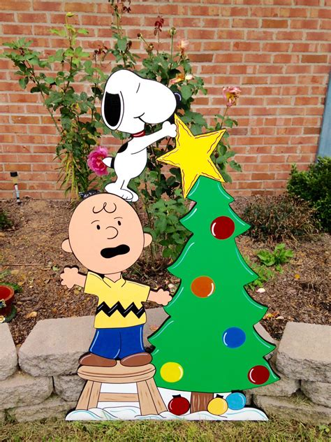 christmas peanuts yard art decoration snoopy christmas
