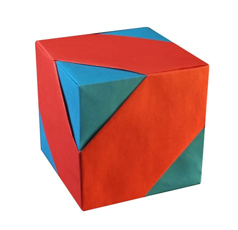 Easy Origami Cube - cube assembly tomoko fuse origami constructions