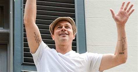 brad pitts tattoos brad pitt tattoos 5 fast facts