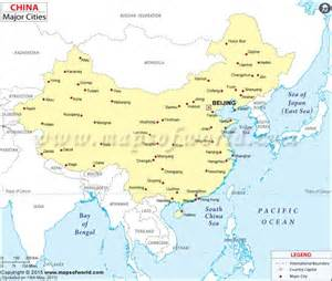 Map Of China Cities by Map Showing Location Of All Major Cities In China Maps