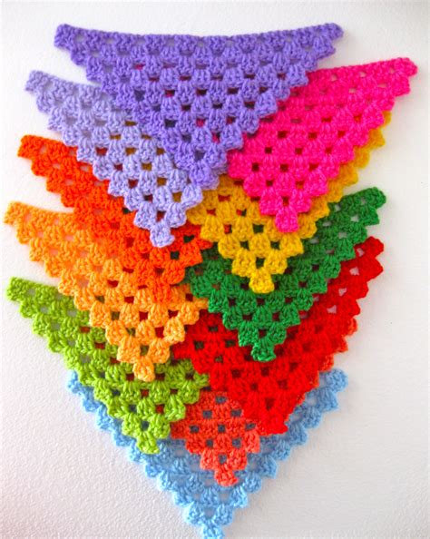 triangle pattern for bunting crocheted bunting sarah london
